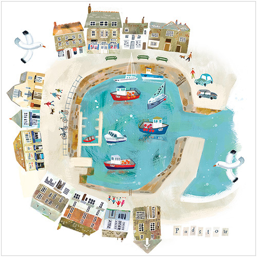 adult mixed card pack In the harbour greeting card