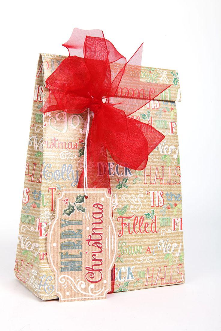 Christmas gift bag wrapping craft
