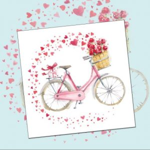 card 'Hearts on a Bicycle' (code: WS349)