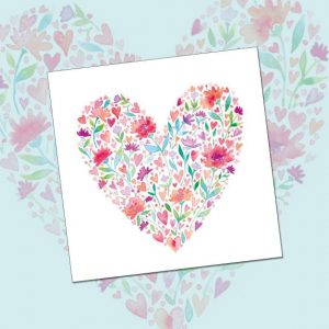 card 'Floral Heart' (code: WS301)