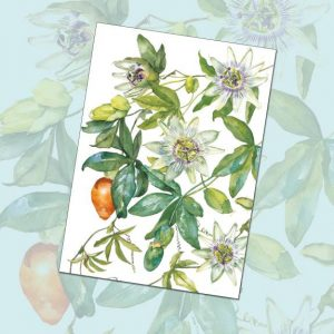 card 'Passion Flowers' (code: A210)