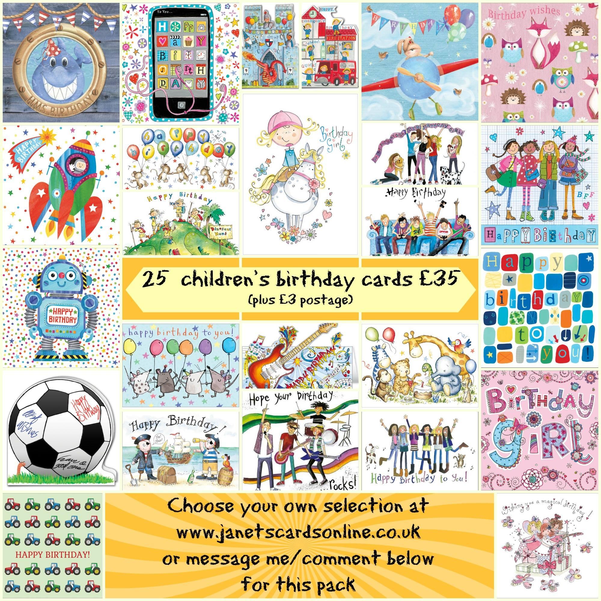 Childrens birthday cards Phoenix Trading