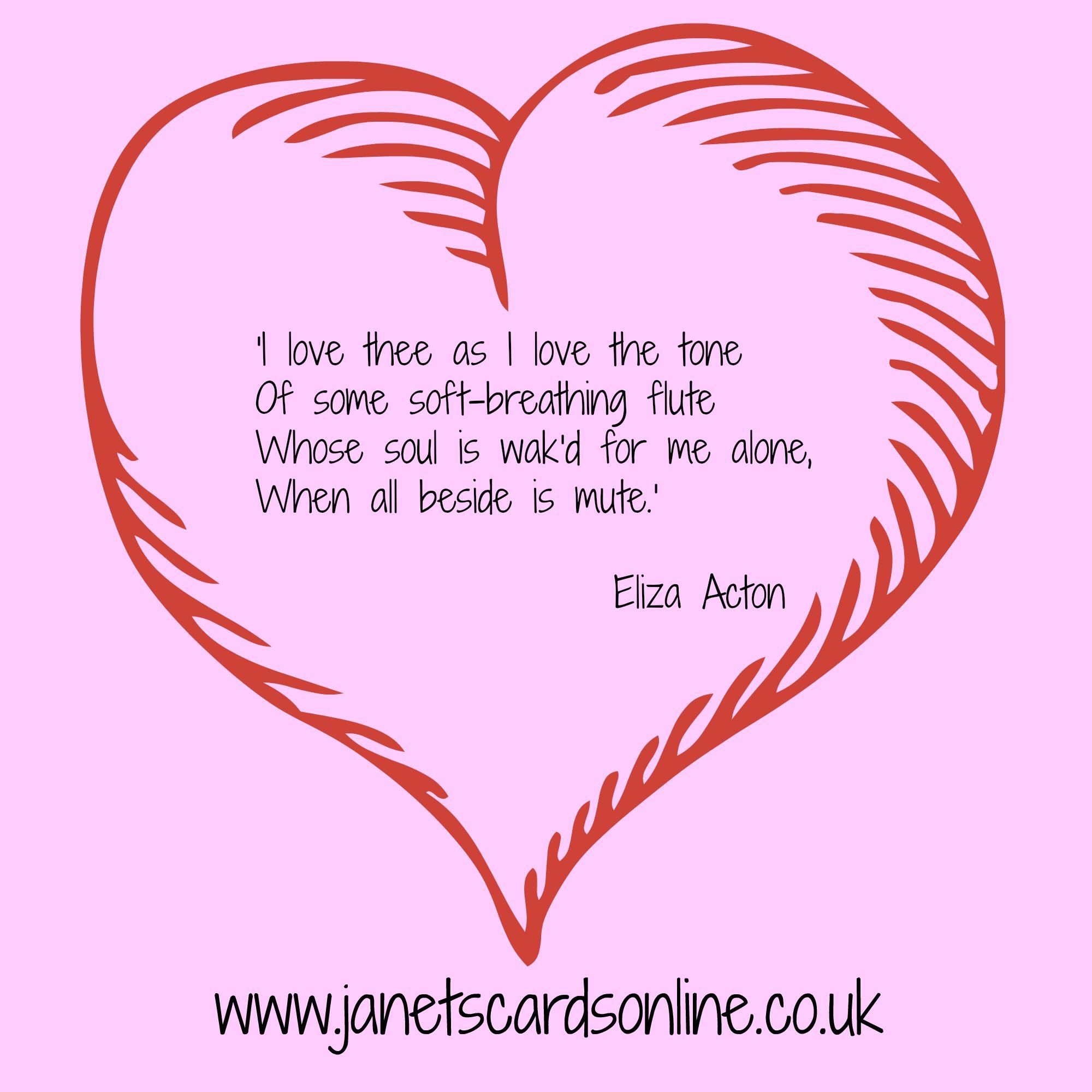 Eliza Acton love poem quote valentines day