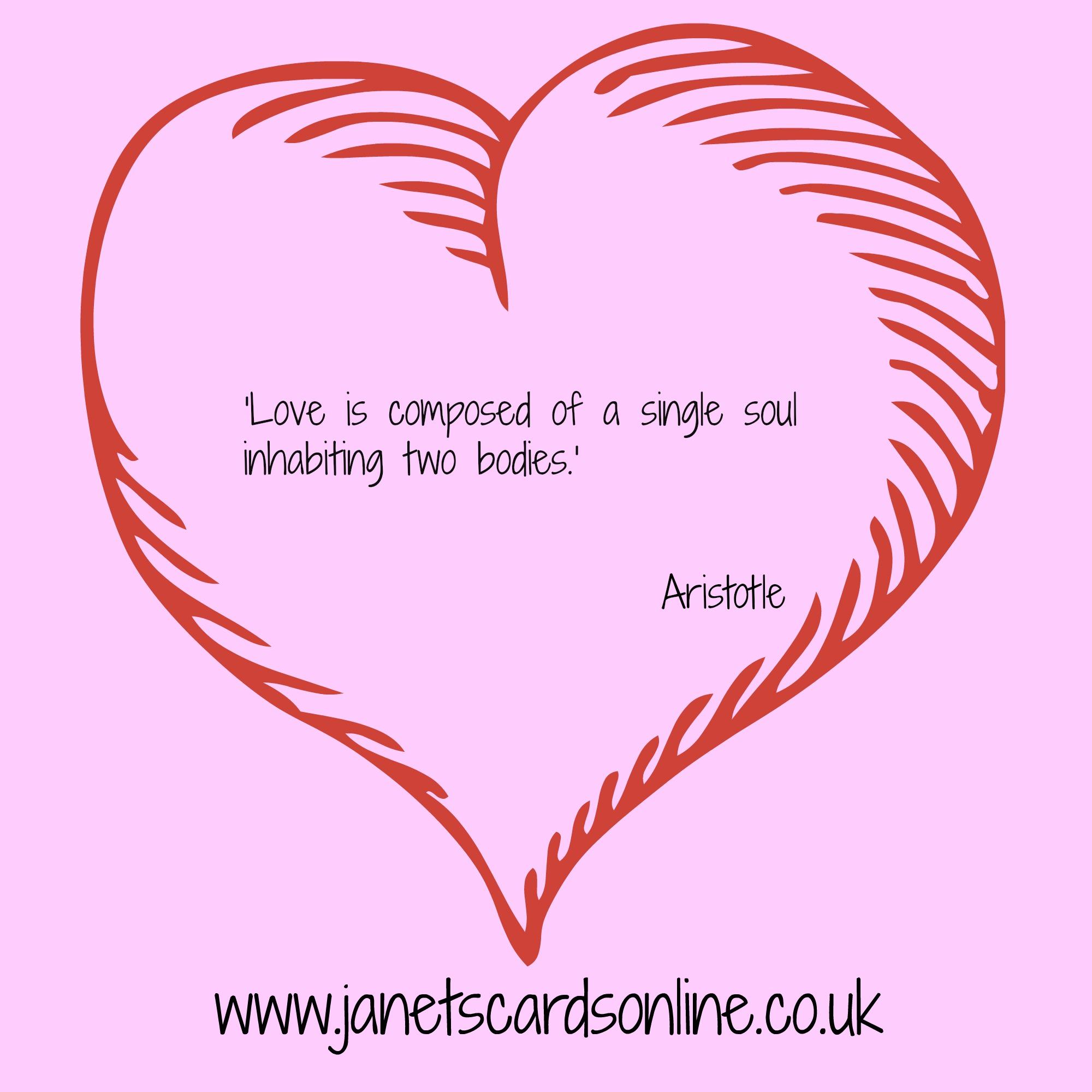 Aristotle love quote verse Valentines Day
