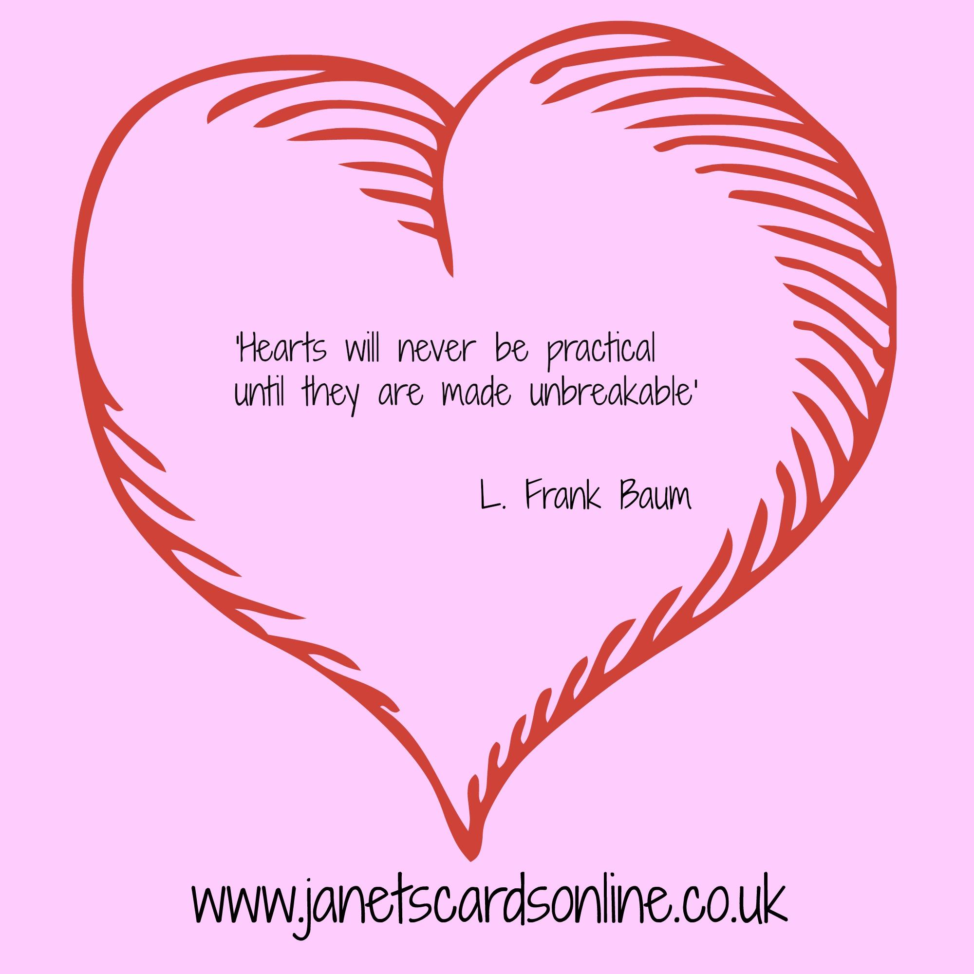 L Frank Baum Wizard of Oz love verse quote Valentines Day