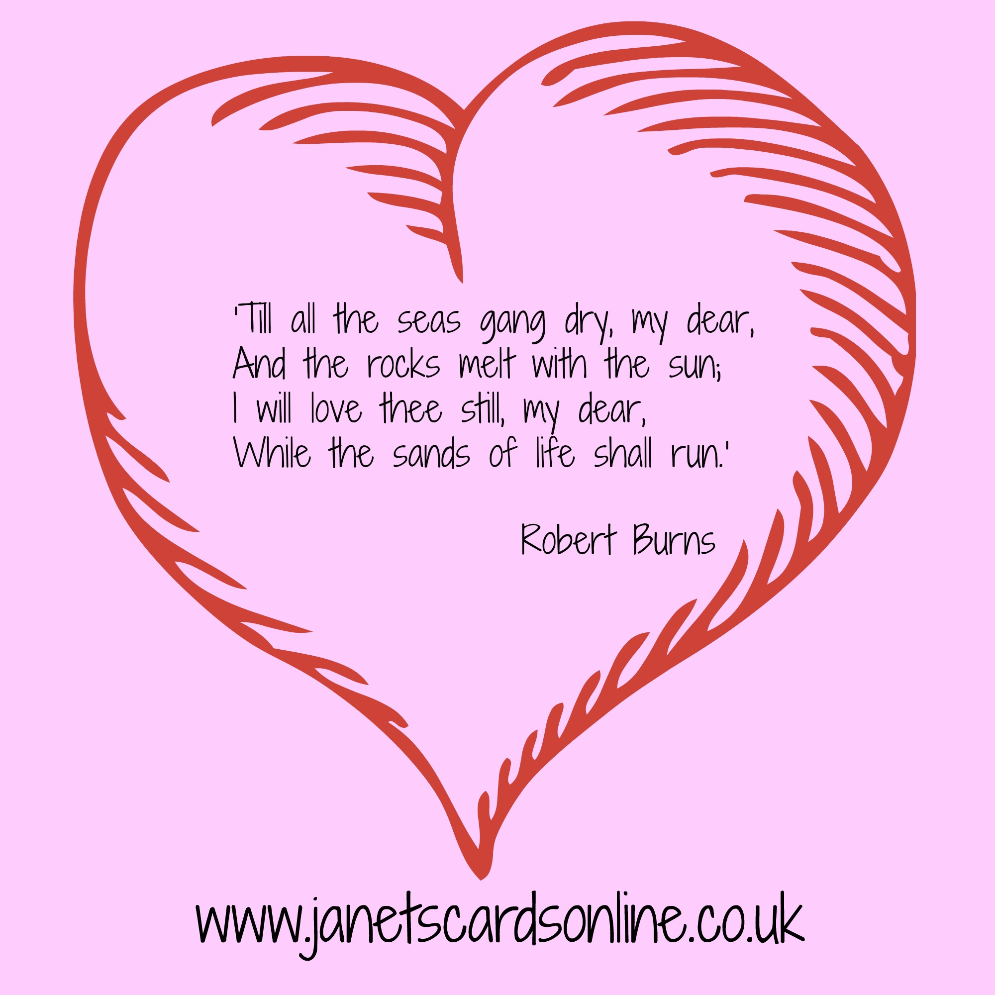 Robert Burns Love like a red red rose valentines poem quote