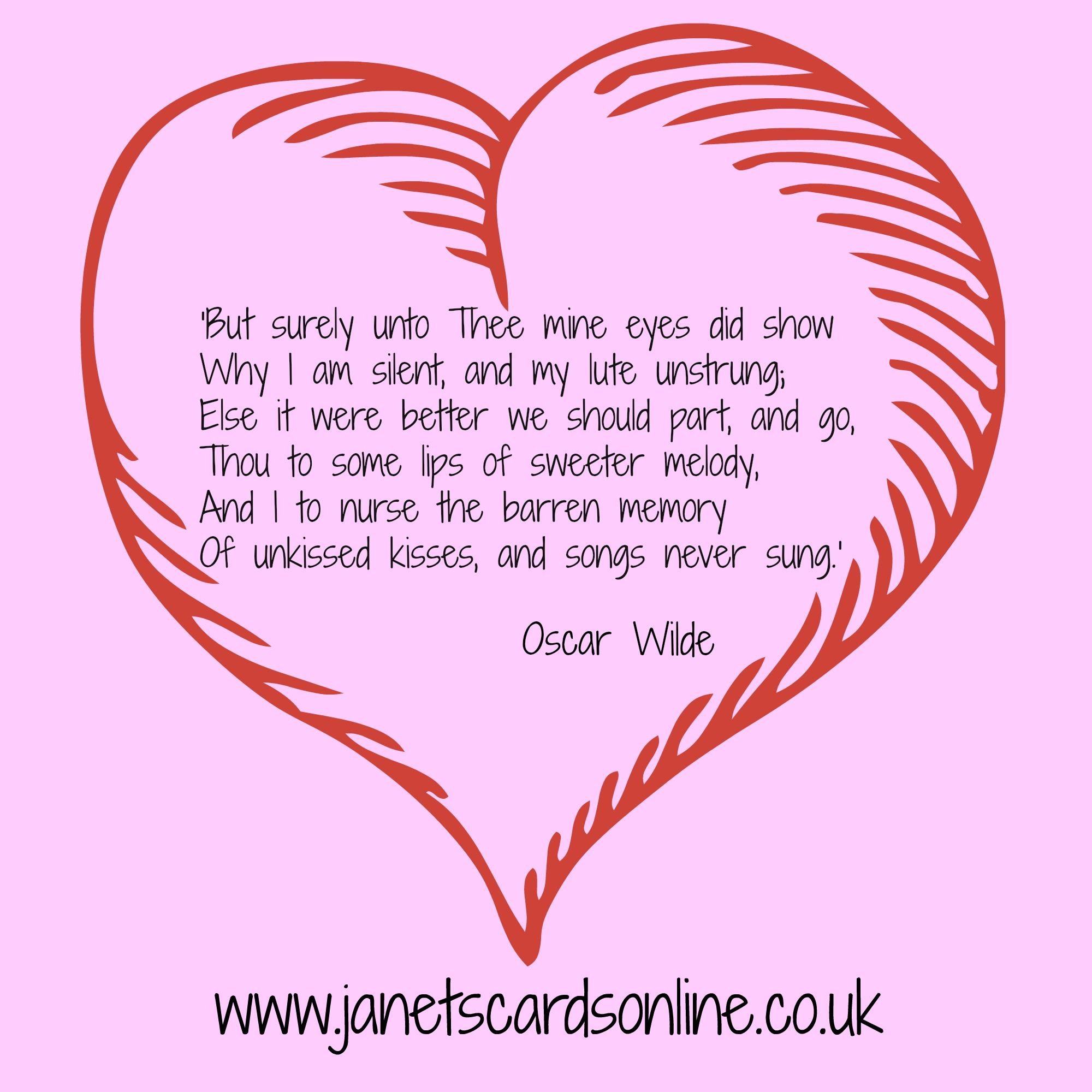 oscar wilde love poem valentines day quote