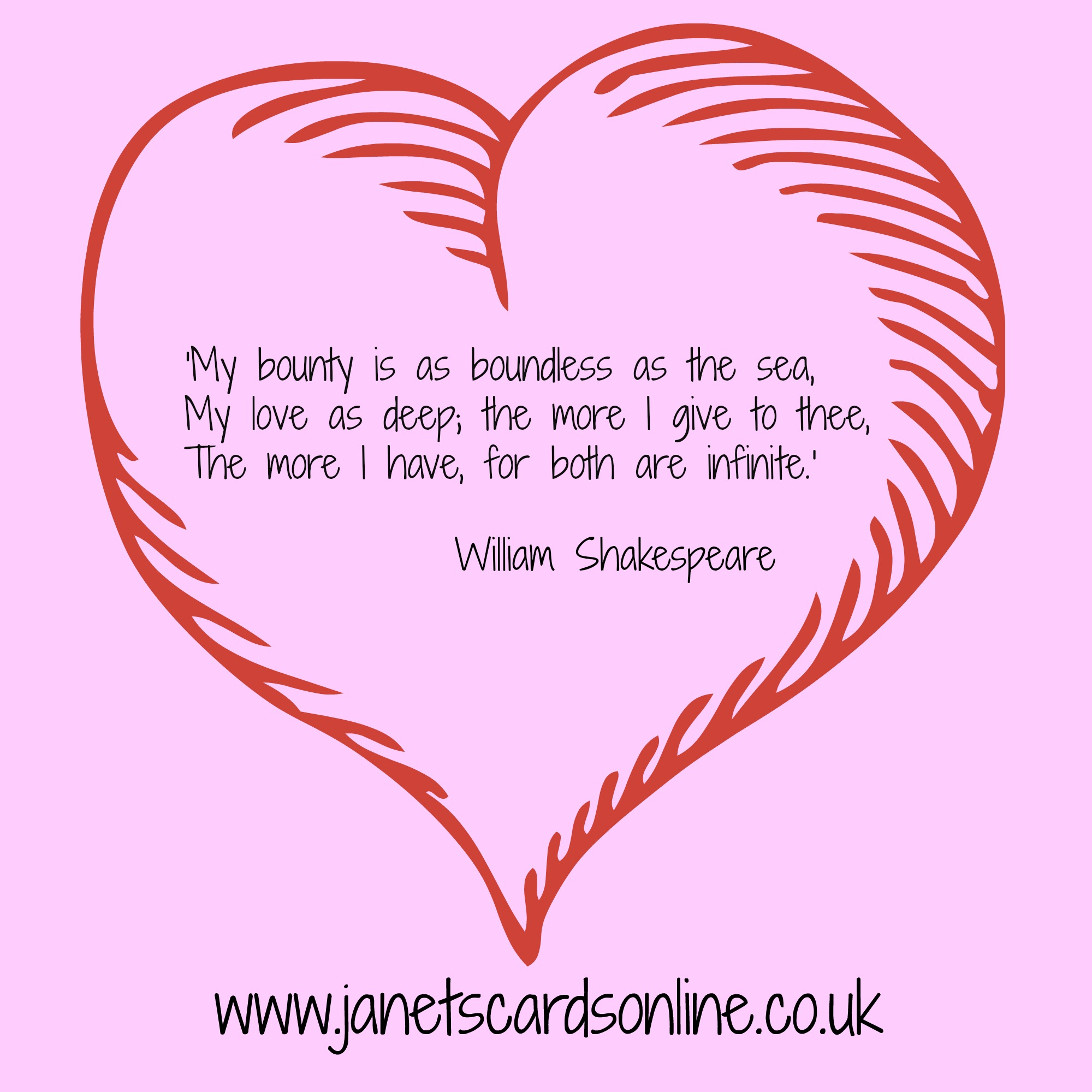 William Shakespeare love quote verse Valentines Day