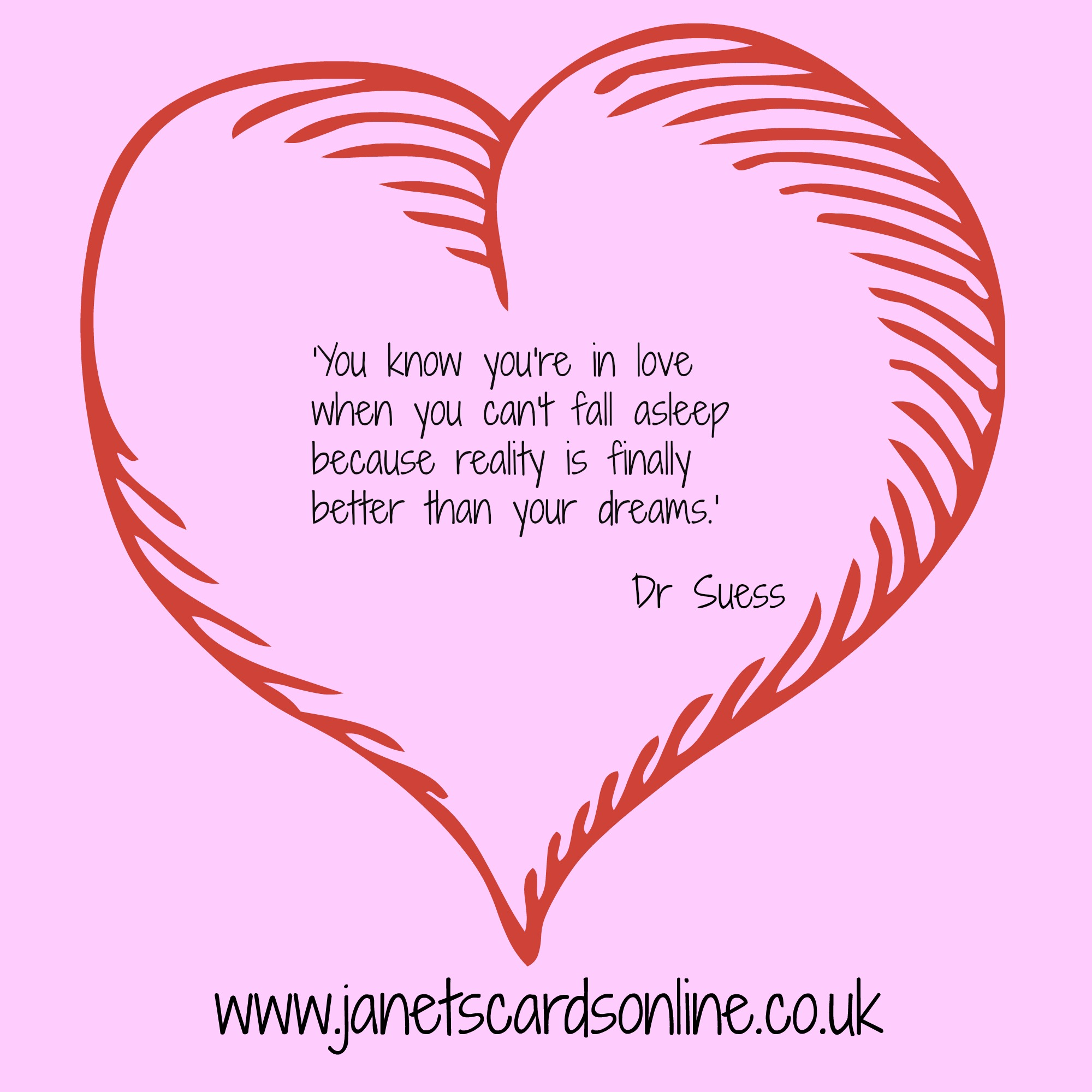 Dr Suess love quote verse Valentines Day