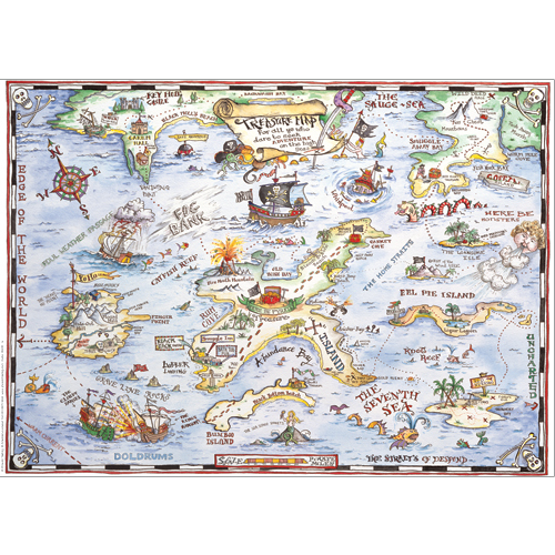 Treasure Map Gift Wrap