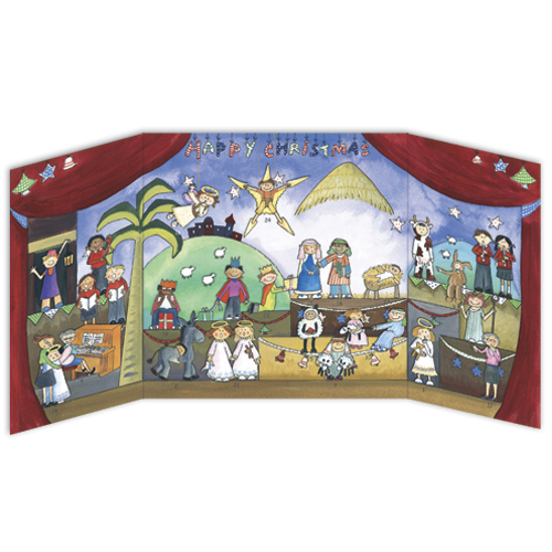 'Children's Nativity' £7.50 Open out traditional advent calendar with 24 doors to open. Code ADV18