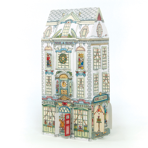 'Department Store' £7.50 3D traditional advent calendar with doors and windows to open every day. Code ADV27