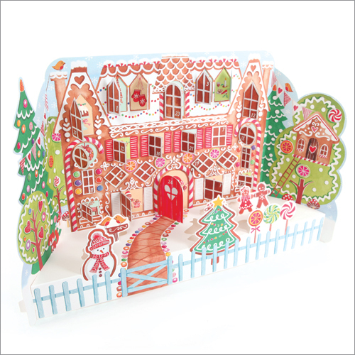 'Gingerbread House' £7.50 with stand up pieces and a door to open every day. Code ADV30 traditional advent calendar