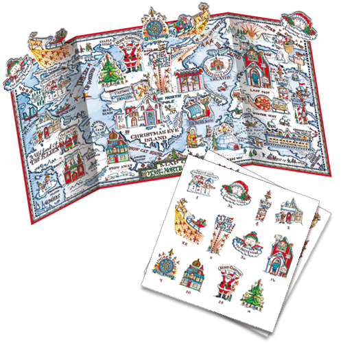 'Map of the North Lands' £7.50 with pop out pieces to insert each day. Code ADV35 traditional advent calendar