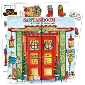 santa's room traditional advent calendars