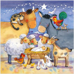 Animal Nativity cards and gifts in the highlands and islands
