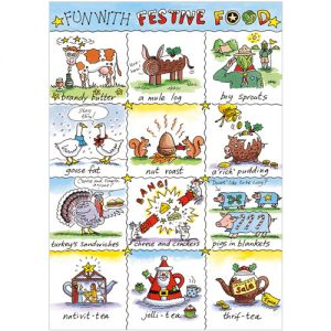 Fun with Festive Food Phoenix Trading Christmas card personalised corporate