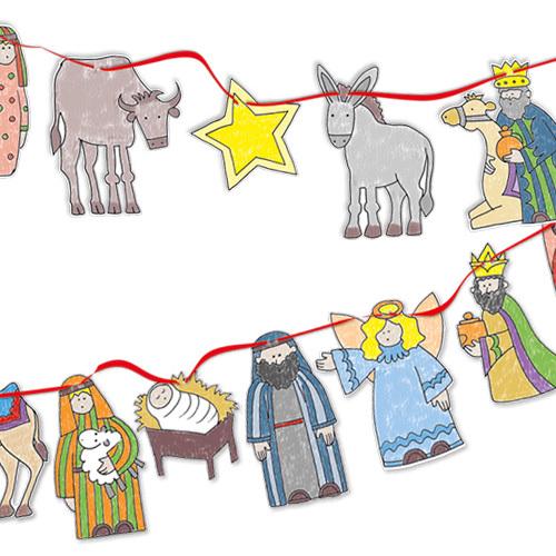 nativity bunting