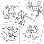 Nativity Crafts colour in cards Phoenix Trading