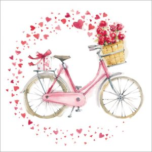 Hearts on a Bicycle Valentines Cards