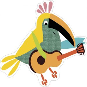Party Parrot gift tag Phoenix Trading