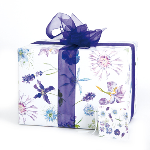 blue floral gift wrapping gift wrap
