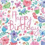 birthday tea and flowers