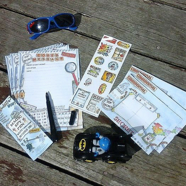 secret agent activity pack