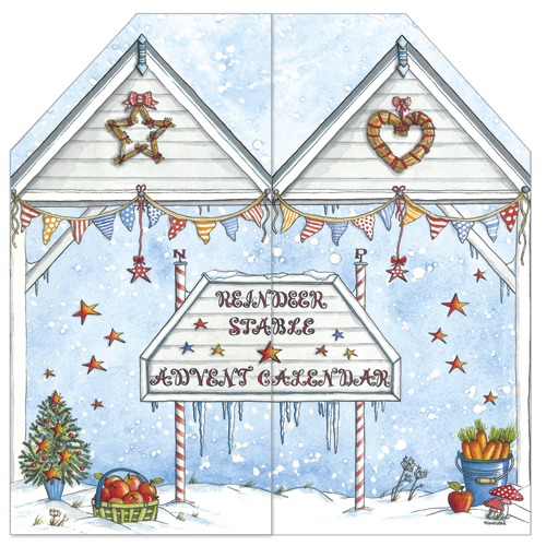 Reindeer stables advent calendar