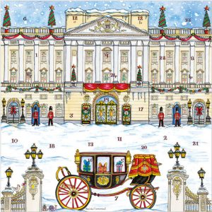 Buckingham palace advent calendar card xac06