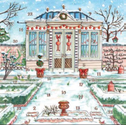 Christmas Garden Advent Calendar Card XAC02