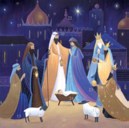 Christmas Nativity advent calendar card xac03