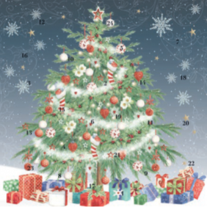 Christmas Tree advent calendar card xac04