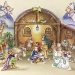 Nativity advent calendar flamingo paperie