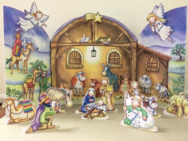 Flamingo Paperie Christmas cards Nativity advent calendar XADV01