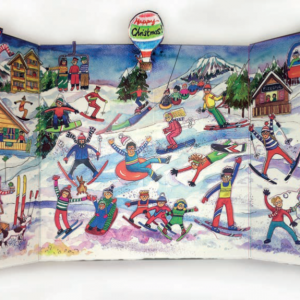 Ski Resort Advent Calendar Flamingo paperie XADV05