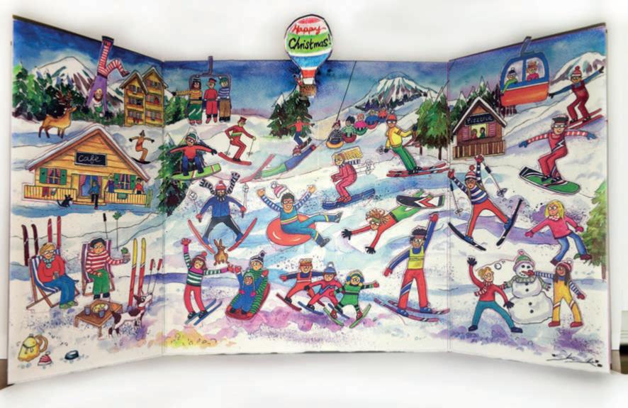 Ski Resort Advent Calendar Flamingo paperie XADV05