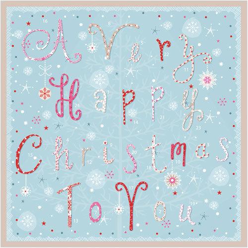 a very happy christmas advent calendar card phoenix trading
