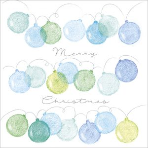 merry christmas baubles christmas cards