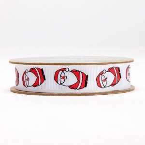 Santa grosgrain ribbon
