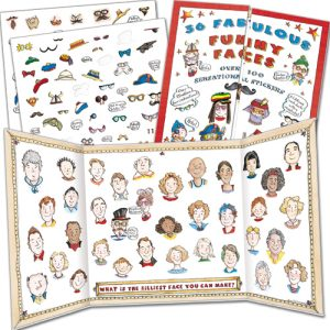 funny Faces activity stickers