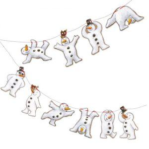 snowmen bunting