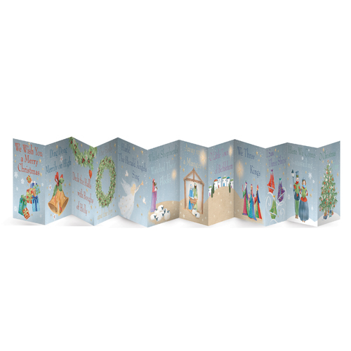Christmas frieze cards fun to send and fabulous to display for Fun ways to display christmas cards
