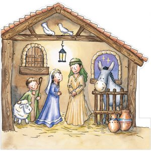 the nativity stable christmas cards