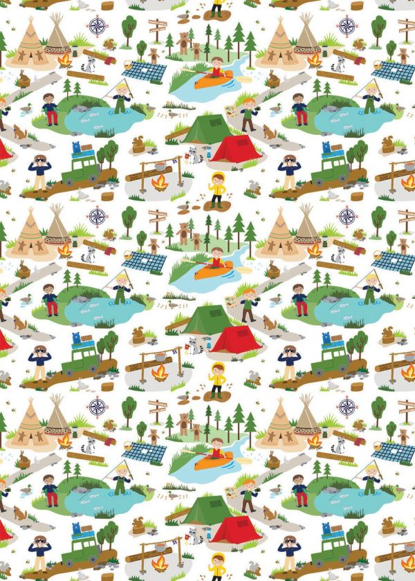 let's go camping gift wrap