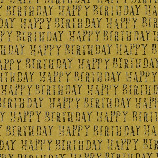 happy birthday kraft gift wrap