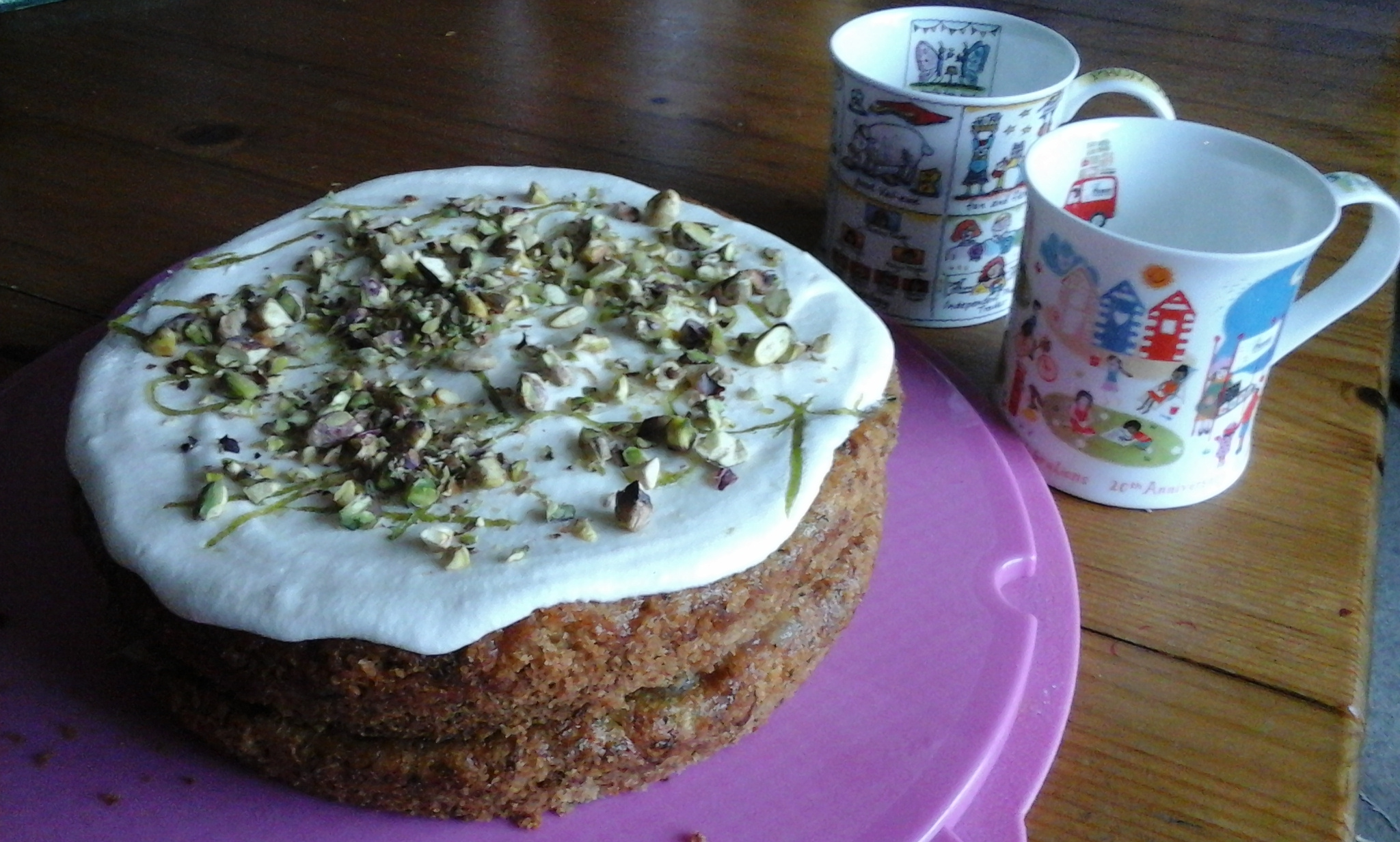 Courgette cake with lemon and lime marmalade