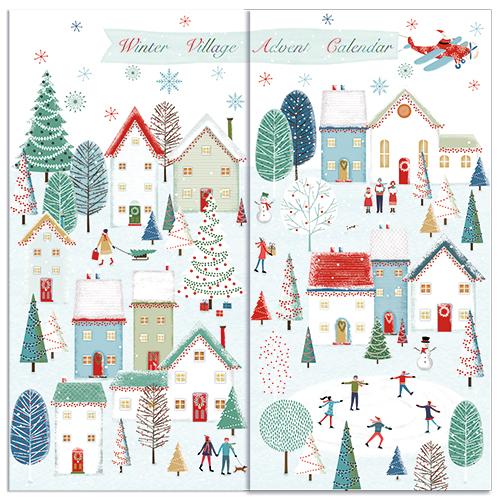 advent calendar winter village