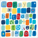 blue happy birthday