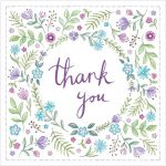 Thank you floral greeting cards